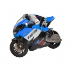 Jin Xing Da Mini RC Motorbike with Gyro and 2.4Ghz Radio System (Blue) - GX806B