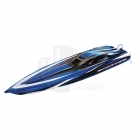 Traxxas Spartan Brushless Powered Boat Now with the NEW TQi 2.4Ghz Radio System - TRX5707-Blue