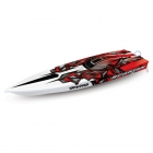 Traxxas Spartan 36inch VXL Brushless TSM Boat with TQi Radio System (Red-X) - TRX57076-4REDX