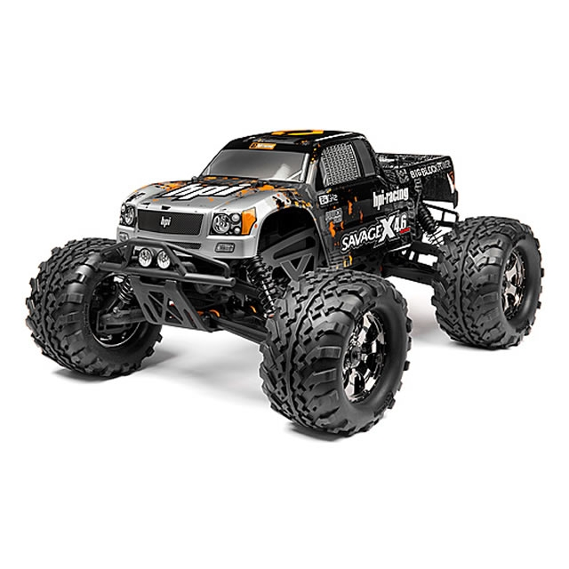 Hpi Savage X 4 6 Rtr 1 8th Scale 4wd Nitro Powered Monster