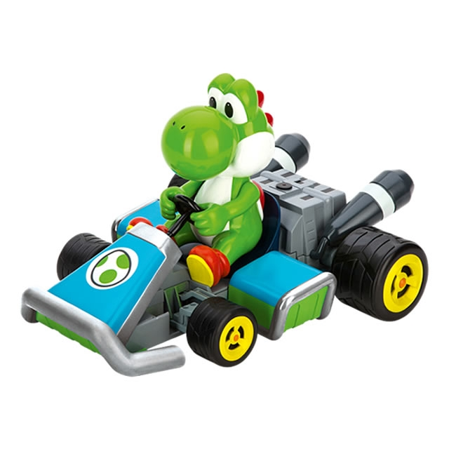 carrera rc 1 16 scale mario kart 7 yoshi radio control car with 2 4ghz transmitter ca162061. Black Bedroom Furniture Sets. Home Design Ideas