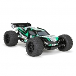 Losi TEN-MT 1/10 4WD Brushless Monster Truck with AVC Technology (Black/Green) - LOS03006T2
