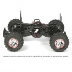 Tamiya 1/10 Mud Blaster II Off-Road 2WD Monster Truck with Motor and ESC (Unassembled Kit) - 58514
