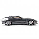 Vaterra Chevrolet Corvette V100S 1/10 Car with Spektrum DX2E 2.4GHz Transmitter - VTR03011I