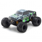 Kyosho Monster Tracker T1 1/10 RTR 2WD Electric RC Truck (Grey/Green) - 34403T1B