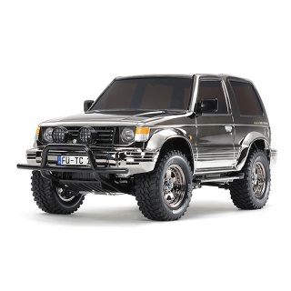 Tamiya 1/10 Mitsubishi Pajero Metal Top Black Metallic 4WD CC-01 Limited Edition (Unassembled Kit) - 47375