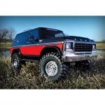 Traxxas TRX-4 1/10 Trail Crawler Truck with Ford Bronco Ranger XLT Body (Red) - TRX82046-4R