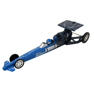 Estes 1/24th Blurzz Rocket Powered Dragster Car with 90ft Race Track (Blue Storm) - ES2502