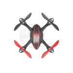 Hubsan X4 LED Mini Quad Copter RTF with Camera Recording and 2.4Ghz Radio System (Black/Red) - H107C-BR