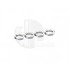 Ansmann Racing 17mm Self Locking Silver Wheel Nut (Set of 4 Nuts) - 203000165