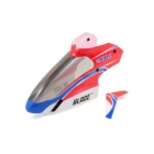 Blade mCP X and Blade mCPX V2 Complete Red Canopy with Vertical Fin - BLH3518