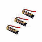 Overlander 3.7v LiPo 550mAh 20C Batteries for Blade 120 SR Helicopter (Pack of 3) - OL-2102