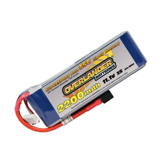 Overlander Supersport LiPo Battery 2200mAh 3S 11.1v 35C with Deans Connector Fitted - OL-2567