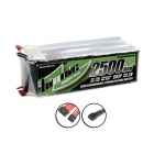 Bionic 6S 22.2v 30C 2500mAh LiPo Flight Battery with Deans Connector - BFS30-2500-0601