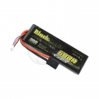 Black Magic 6000mAh 7.4V 30C Semi-Hard Case LiPo Battery with Traxxas Connector - BM6002