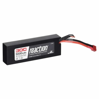 Dynamite Reaction 7.4V 5000mAh 2S 30C Hard Case LiPo Battery with Deans Connector - DYN9005D