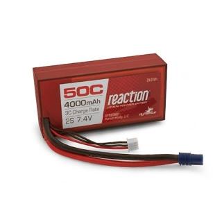 Dynamite Reaction 7.4v 4000mAh 2S 50C LiPo Battery with EC3 Connector - DYNB3800EC