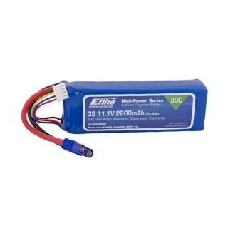 E-flite 2200mAh 3S 11.1V 30C LiPo Battery with EC3 Connector - EFLB22003S30