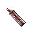 Overlander 3800mAh 7.2V NiMh Stick Battery Pack with Tamiya Plug for RC Cars, Boats, Bike - OL-1484