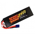 Overlander Sport Track 4500mAh 3S 11.1v 55C LiPo Battery in Hard Case with EC3 Connector - OL-2956EC3