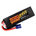 Overlander Sport Track 4500mAh 3S 11.1v 55C LiPo Battery in Hard Case with EC5 Connector - OL-2956EC5