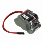 Radient Superpax 6V 1600mAh 3+2 NiMh Receiver Hump Battery with JR/Futaba Plug - RDNA0089