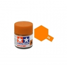Tamiya Mini X-6 Gloss Orange Acrylic Paint 10ml Bottle - 81506