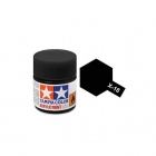 Tamiya Mini X-18 Semi-Gloss Black Acrylic Paint 10ml Bottle - 81518