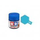 Tamiya Mini X-23 Clear Blue Acrylic Paint 10ml Bottle - 81523