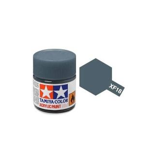 Tamiya Mini XF-18 Flat Medium Blue Acrylic Paint 10ml Bottle - 81718