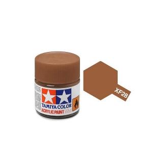 Tamiya Mini XF-28 Flat Dark Copper Acrylic Paint 10ml Bottle - 81728