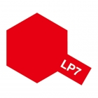 Tamiya LP-7 Gloss Pure Red Lacquer Paint Bottle (10ml) - 82107