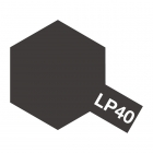 Tamiya LP-40 Gloss Metallic Black Lacquer Paint Bottle (10ml) - 82140