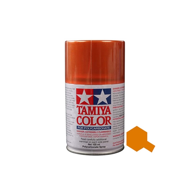 Tamiya Ps 61 Metallic Orange 100ml Polycarbonate Spray Paint 86061