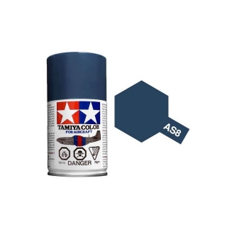 Tamiya AS-8 Navy Blue (US Navy) 100ml Spray Paint for Scale Models - AS86508