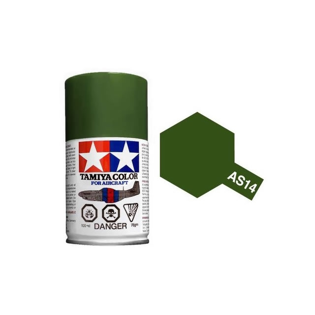 Tamiya As 14 Olive Green Usaf 100ml Spray Paint For