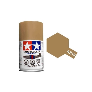 Tamiya AS-15 Tan (USAF) 100ml Spray Paint for Scale Models - AS86515