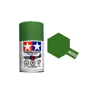 Tamiya AS-23 Light Green (Luftwaffe) 100ml Spray Paint for Scale Models - AS86523