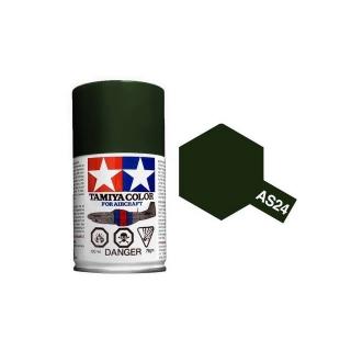 Tamiya AS-24 Dark Green (Luftwaffe) 100ml Spray Paint for Scale Models - AS86524