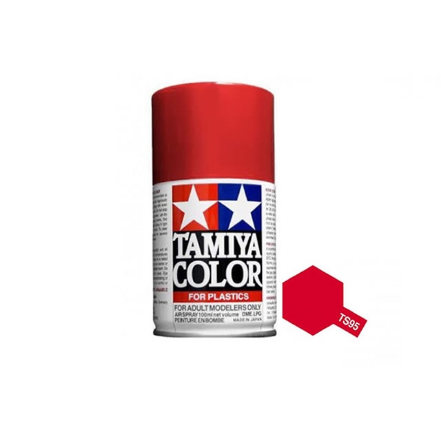 Tamiya Ts 95 Pure Metallic Red 100ml Acrylic Spray Paint Ts 85095
