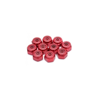 Edit M2 Red Anodised Nut (Pack of 10 Nuts) - ED130016