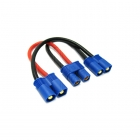 Etronix Battery Harness for 2 Packs in Series Adaptor with EC3 Connectors - ET0706