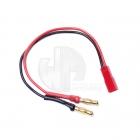 Logic RC 4mm Bullet Connector to Female BEC/JST Charging Lead - LGL-CLBEC