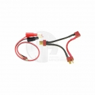 Logic RC Charge Lead 4mm Bullet to Twin Deans Male Connector - LGL-CLDNST