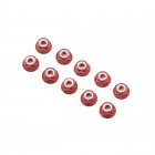 Ansmann Racing Red Aluminium Nylon Nut 3mm (10 Nuts) - 203000018