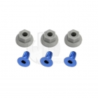 Traxxas Wing Mounting Hardware (4x8mm CCS Aluminum) (4x7mm Flanged NL) (Set of 3) - TRX5512