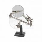 JP Helping Hands Glass Magnifier with Iron Base - 5532955