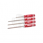 EDS Racing Imperial Hex Screw Driver Set .050x60mm/.063/.078/.093x120mm (Set of 4) - ED110882