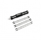 Fastrax 12 Tip Multi Screw Driver Tool Set Hex, Flat blade and Philips - FAST608