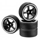 Absima 1/10 Drift Wheel and Tyre Set 5-Spoke Profile B White (Set of 4) - 2510047